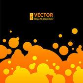 Streszczenie pomarańczowe, żółte i czarne tło z okrągły pęcherzyki. — Wektor stockowy