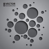 Abstract background with grey circles and shadows. — Stock Vector