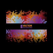 Abstract digital background with colorful pixels equalizer — Stockvector