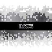 Abstract digital background with grayscale pixels equalizer — Stock Vector