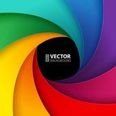 Swirly di carta colorata — Vettoriale Stock