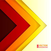 Abstract red, orange and yellow triangle shapes background. — Vettoriale Stock
