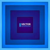 Kształty niebieski prostokąt streszczenie tło. — Wektor stockowy