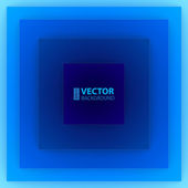 Abstract blue square paper shapes background. — Stock Vector