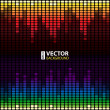 Rainbow digital equalizer vector background — Stock Vector