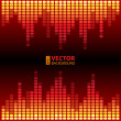 Burning digital equalizer vector background. — Stock Vector