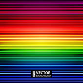 Abstract retro striped rainbow background — Stock Vector