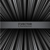 Abstract retro striped grayscale background. — Stock Vector