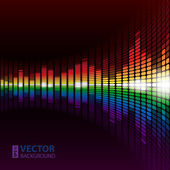 Rainbow warped digital equalizer — Stock Vector