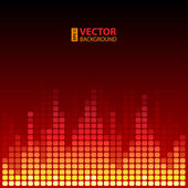 Burning digital equalizer background. — Stock Vector