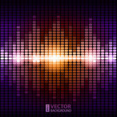 Shining colorful digital equalizer background with flares. — Stock Vector