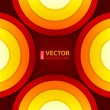 Abstract red, orange and yellow round shapes background. — Stockvectorbeeld