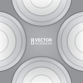 Abstract white and grey round shapes background. — Stock Vector