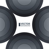 Abstract dark gray round shapes background. — Stock Vector