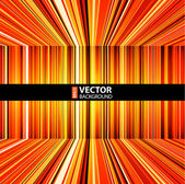Abstract red, orange and yellow retro stripes colorful background. — Stock Vector