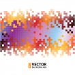 Abstract digital background with colorful pixels equalizer — Stock Vector #34798049