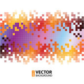 Abstract digital background with colorful pixels equalizer — Stock Vector