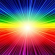 Stock Photo: Abstract rainbow striped burst background