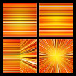Set of abstract retro striped orange colorful backgrounds — Stock Photo