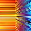 Stock Photo: Abstract warped orange and blue stripes