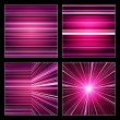 Set of striped purple and violet backgrounds — Stock Photo