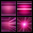Set of striped purple and violet backgrounds — Stock Photo #38929379