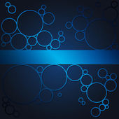 Abstract background with blue shining circles — Stock Photo