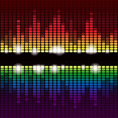 Rainbow equalizer background — Stockfoto