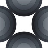 Abstract dark grey paper circles background — Foto Stock