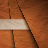 Abstract background with brown paper layers — Foto Stock