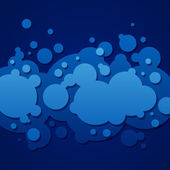 Abstract blue background with round bubbles — Foto de Stock