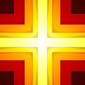 Abstraktní obrazce červené a oranžové trojúhelník — Stock fotografie