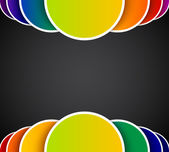 Bright abstract background with colorful circles — Stock Photo