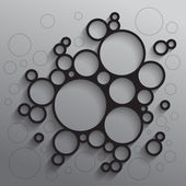 Abstract background with black circles — Stock Photo