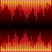 Fondo rojo y naranja ecualizador digital — Foto de Stock