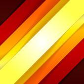 Forme astratte triangolo rosso e arancione — Foto Stock