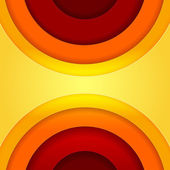 Abstract red and orange circles vector background — Stock Photo
