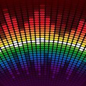 Rainbow equalizer background — Stock Photo