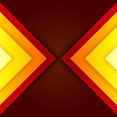 Abstract red and orange triangle shapes background — Foto de Stock