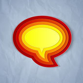 Chat bubble symbol on light grey paper background — Stock Photo