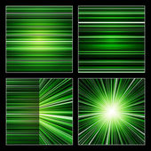 Abstract green stripes colorful backgrounds set — Stock Photo