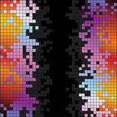 Abstract background with rainbow colorful pixels — Foto Stock