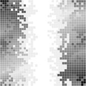 Abstract background with black and white pixels — Foto Stock