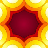 Les cercles rouges et oranges abstraites vector background — Photo