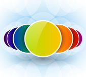 Bright abstract vector background with colorful circles — Stock Photo