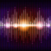 Orange and purple digital equalizer background — Stock Photo