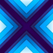 Abstract blue paper triangle shapes background — Foto Stock