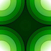 Abstract green paper circles vector background — Стоковое фото