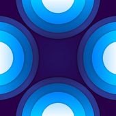 Abstract blue paper circles background — ストック写真