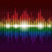 Rainbow digital equalizer background — Stockfoto